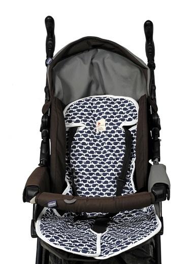 Bebek Arabası Minderi  Navy Whale-Moms Cotton